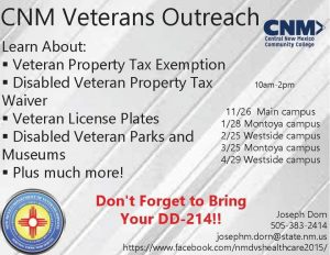 Cnm Montoya Campus Veterans Outreach Nm Department Of Veterans