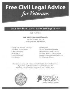 Free Legal Advice @ New Mexico Veterans Memorial | Albuquerque | New Mexico | United States