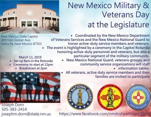 2019 Military and Veterans Day @ The State Legislature @ New Mexico State Legislature | Santa Fe | New Mexico | United States