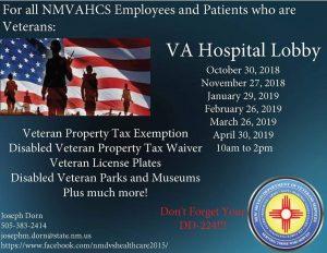 NM VA Hospital Lobby Veterans Outreach @ New Mexico VA Hospital | Albuquerque | New Mexico | United States