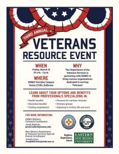 3rd Annual Veterans Resource Event @ Eastern New Mexico University Portales