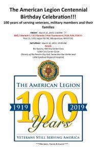 American Legion Centennial Birthday Celebration BBQ @ American Legion Post 13 | Albuquerque | New Mexico | United States