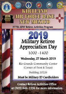 2019 Military Retiree Appreciation Day @ Rio Grande Community Center | Sandy | Oregon | United States