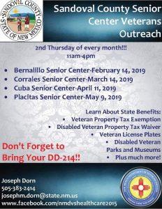 Placitas Senior Center Veterans Outreach @ Placitas Senior Center | Placitas | New Mexico | United States