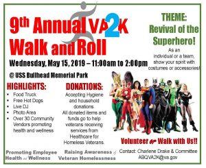 9TH Annual VA 2K Walk and Run @ USS Bullhead Park