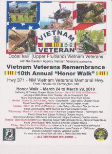 Vietnam Veterans Remembrance 10th Annual Walk @ Hwy 371 Vietnam Veterans Memorial Highway | Farmington | New Mexico | United States