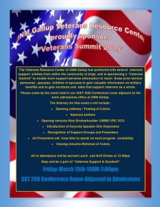 UNM Gallup Veterans Resource Day @ UNM Gallup