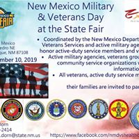 DEADLINE For State Fair Military & Veterans Day Registration Forms @ New Mexico State Fair Grounds