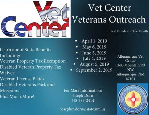 Albuquerque Vet Center Outreach @ Albuquerque Vet Center | Albuquerque | New Mexico | United States