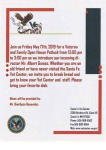Veterans and Family Open House Potluck @ Santa Fe Vet Center