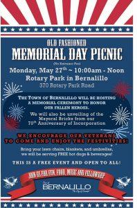 Old Fashioned Memorial Day Picnic @ Bernalillo Rotary Park | Bernalillo | New Mexico | United States