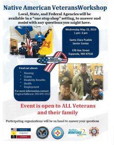 Native American Veterans Workshop @ Santa Clara Pueblo Senior Center | Española | New Mexico | United States