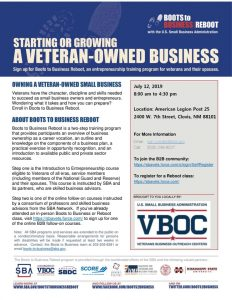 Starting or Growing a Veteran-Owned Business @ Ameican Legion Post 25