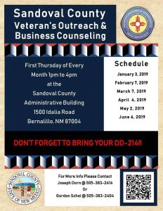 Sandoval County Veterans Outreach @ Sandoval County Administration Building