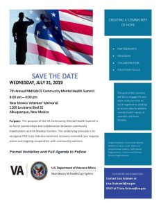 7th Annual NMVAHCS Mental Health Summit @ New Mexico Veterans Memorial