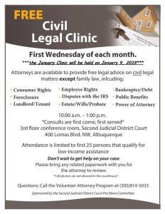 Free Civil Legal Advice for Veterans @ New Mexico Veterans Memorial   Albuquerque   New Mexico   United States