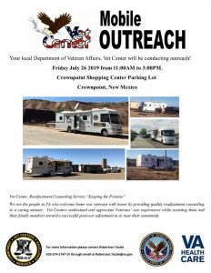 Vet Center Mobile Outreach @ Crownpoint Shopping Center