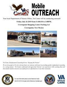 Vet Center Mobile Outreach @ Crownpoint Shopping Center