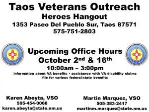 Taos Veterans Outreach @ Heroes Hangout