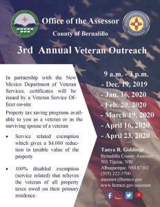 3rd Annual Bernalillo County Assessor's Office Veterans Outreach @ Bernalillo County Assessor's Office