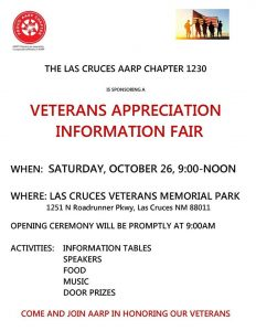 Veterans Appreciation Fair @ Las Cruces Veterans Memorial