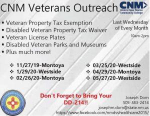CNM Westside Campus Veterans Outreach @ CNN Westside Campus