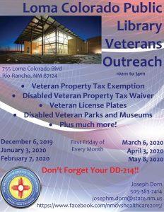 Loma Colorado Public Library Veterans Outreach @ Loma Colorado Public Library