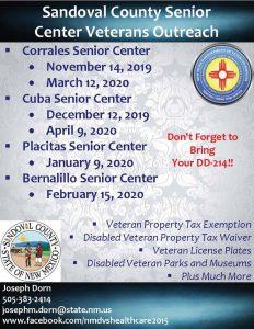 Placitas Senior Center Veterans Outreach @ Placitas Senior Center